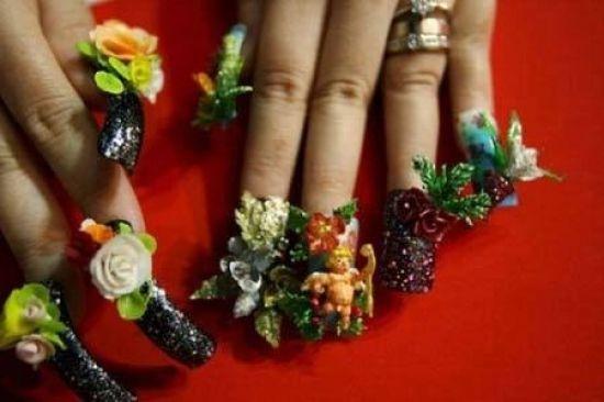 Crazy Nail Art: Plants Crazy Nail Designs For Black Color Nails ~ Nail Art  Inspiration | Crazy Nail Art | Pinterest | Crazy nail art, Crazy nails and  Crazy ... - Crazy Nail Art: Plants Crazy Nail Designs For Black Color Nails