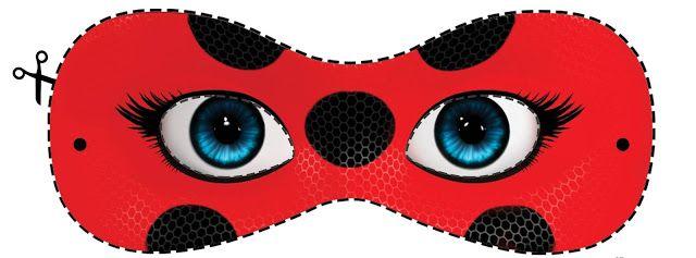 Resultado De Imagem Para Mascara Ladybug Para Colorir Festa