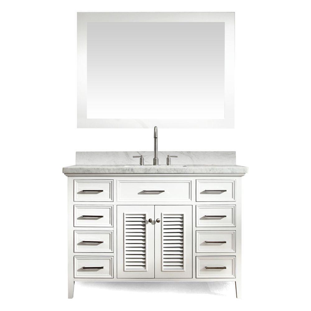 Contemporary Art Sites Kensington Single Bathroom Vanity Set with Mirror Bathroom vanities Ariel and Single bathroom vanity