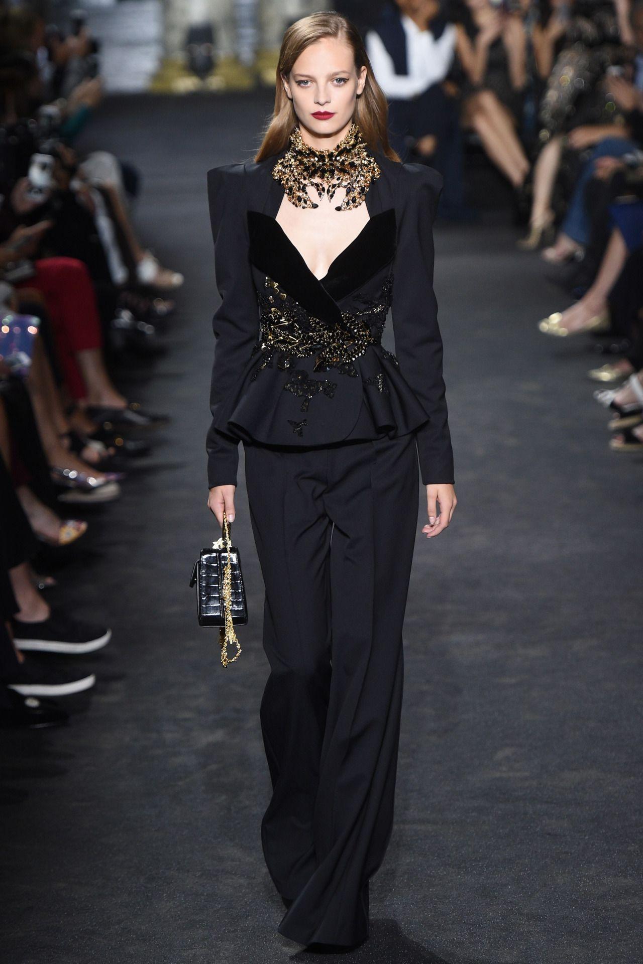 Elie Saab Haute Couture Fall 2016 Model Ine Neefs