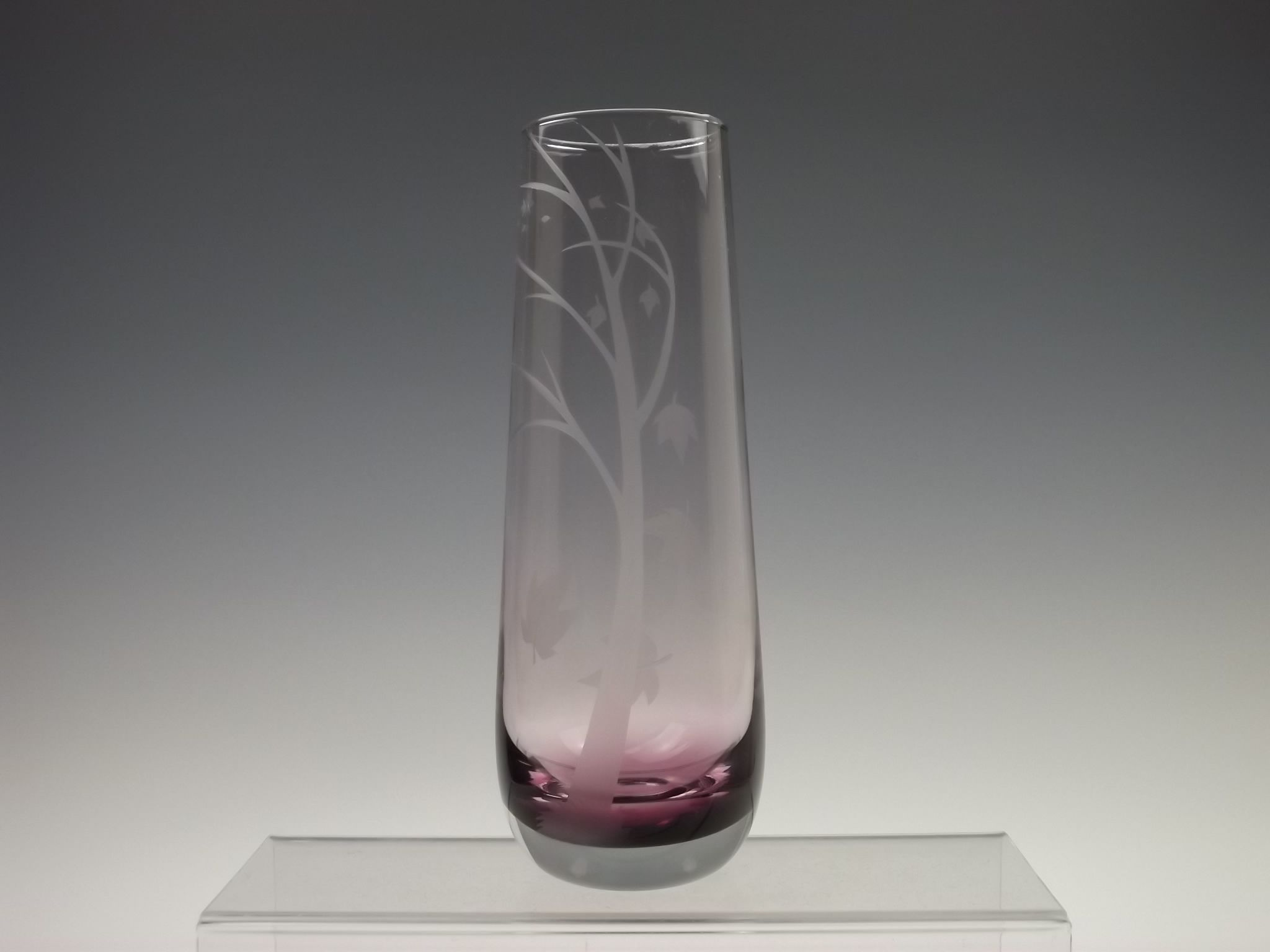 Caithness Autumn Leaves Sandblasted Amethyst Glass Vase Glass Glass Crystal In 2019