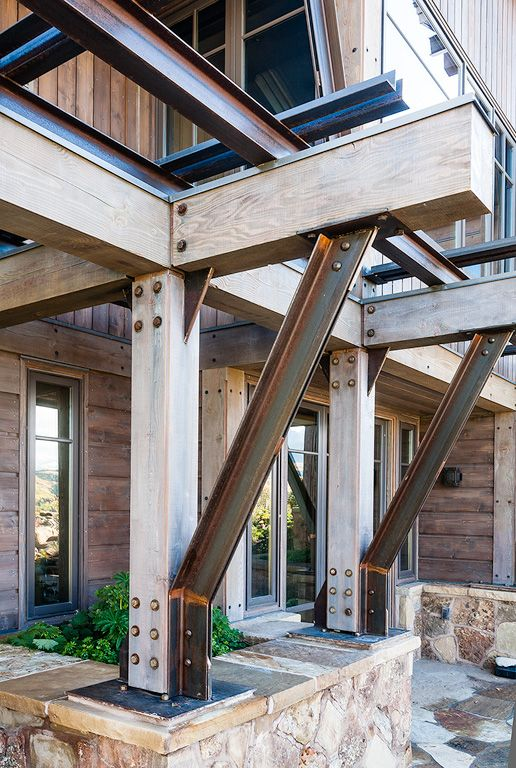 Architectural Detail from Finbro Construction Telluride Colorado - rendre une terrasse etanche