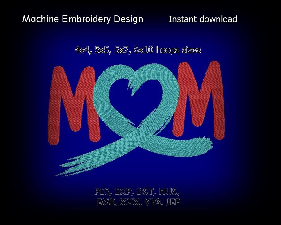 Mother Design Machine Embroidery Project Instant Download Files
