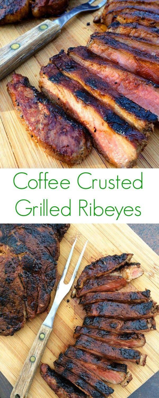 Coffee Rubbed Ribeyes | Recipe | Recipes, Baked bbq ribs ...