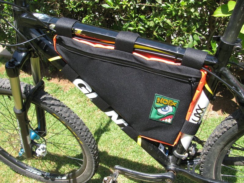 My first frame bag | Bikepacking | Pinterest