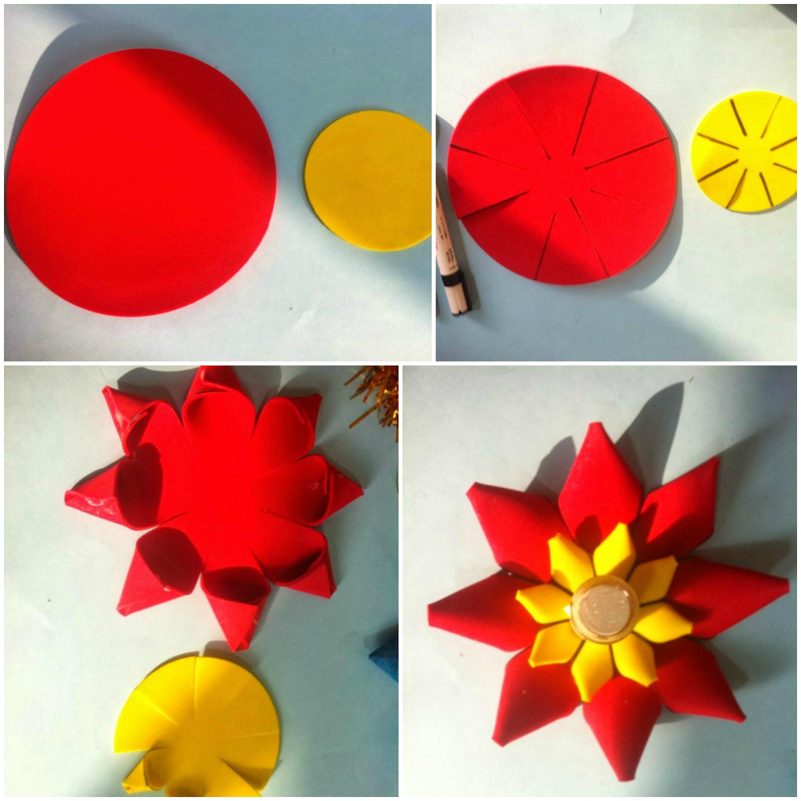 art craft ideas and bulletin boards for elementary schools 3d flower tutorial craft ideas. Black Bedroom Furniture Sets. Home Design Ideas