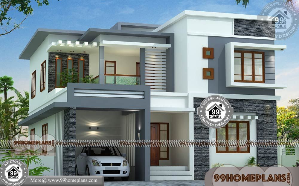Design Floor Plans For Home With Two Story Homes Designs Small Blocks Having 2 Floor Philippines House Design Small House Elevation Design House Outside Design
