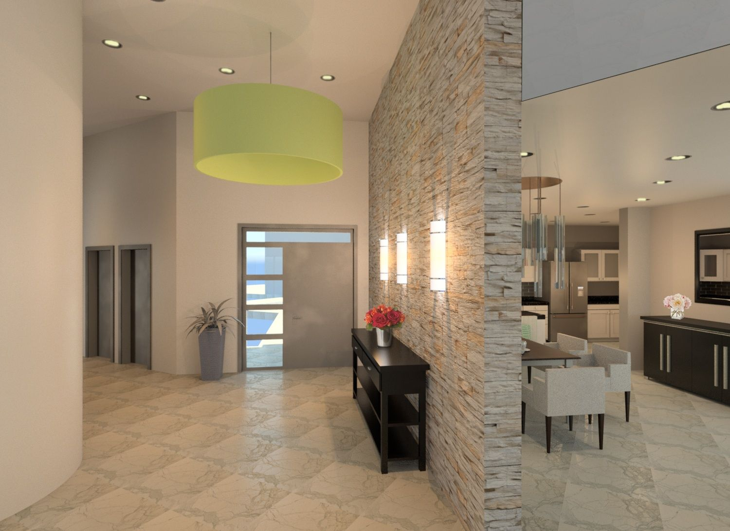 Front Entrance Hallway Rendering Designed By Emily Clark