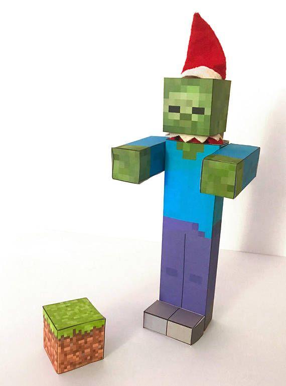Shelf Elf Printables Minecraft Zombie Elf printables