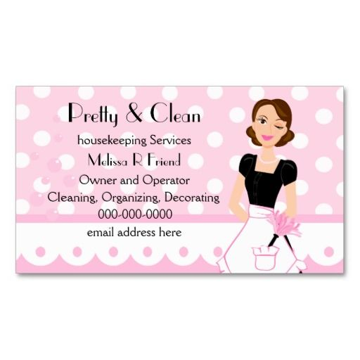 Pretty And Clean Business Card Templates Cleaning Business Cards