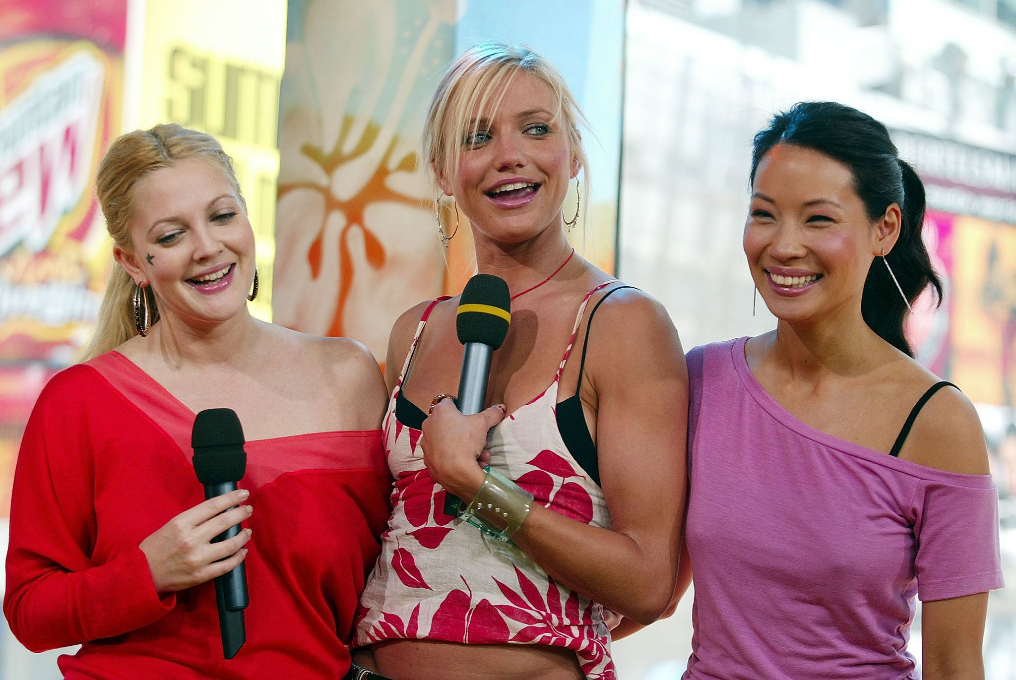Drew Barrymore, Cameron Diaz, and Lucy Liu promoted Charlie's Angels: Full Throttle on