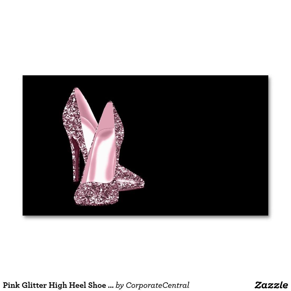 Pink Glitter High Heel Shoe Business Card Template Zazzle Co Uk Glitter High Heels Business Card Template Pink Glitter