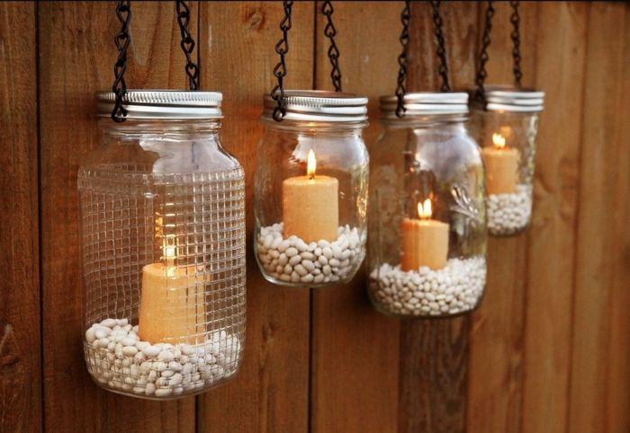 Lampada Barattolo Fai Da Te : Riciclo barattoli di vetro lampade fai da te candele interno base