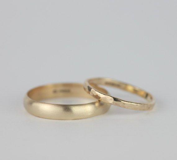 1.4g D Shape | PLAIN Ladies Handmade Slim /& Simple Wedding Ring 2mm 9ct Yellow Gold Band Domed