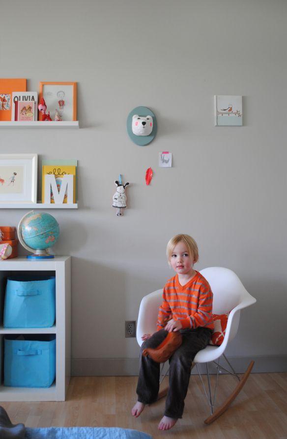 Cute Mounted Animals for kids rooms.  #mountedanimals #kidsroom #kidsdecoration