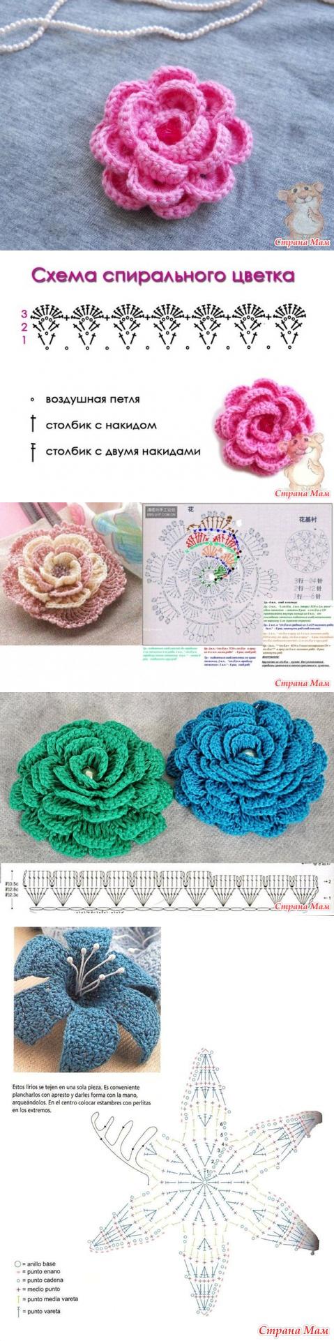 Pin de Ely Campo en flores en croché | Pinterest | Las flores, Mamá ...