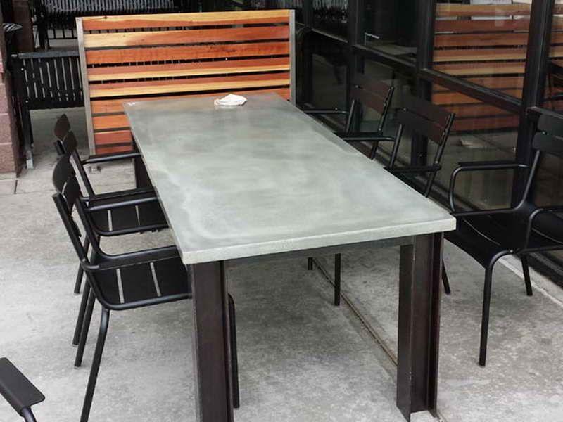 Poured Concrete Table Top Outdoor