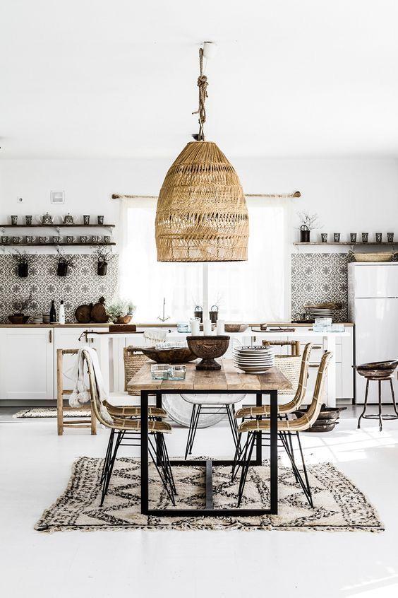 Inspi vintage récup dans cette cuisine-salle à manger Architecture