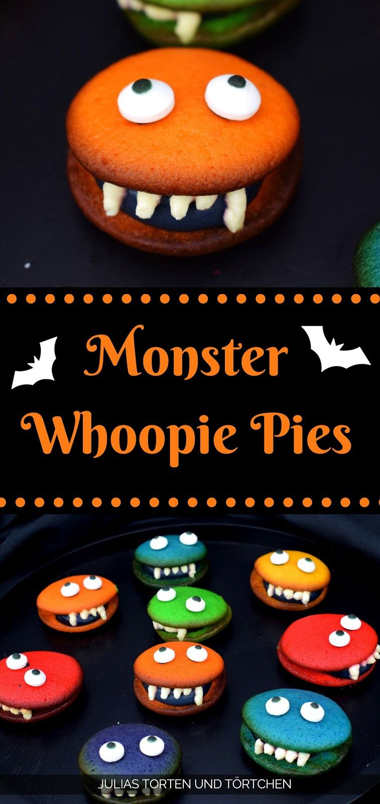 Monster Whoopie Pies | Halloween backen, Monster und Halloween