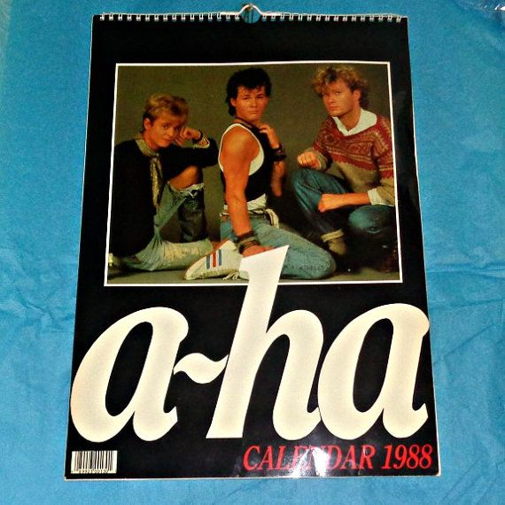 A Ha 1988 Calendar Music Memorabilia By Owlvintagecalendars With