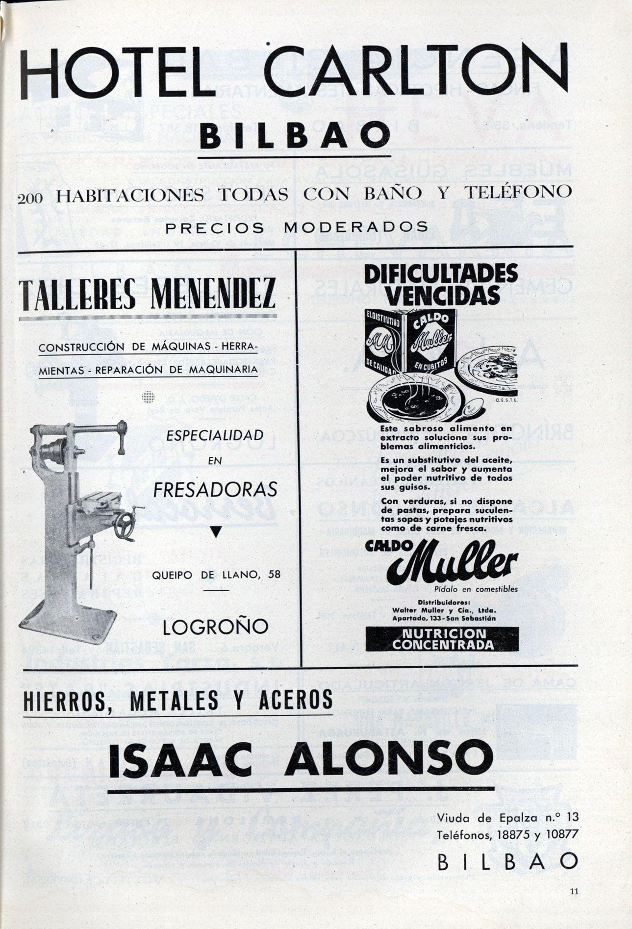Hotel Carlton en Vida Vasca 01-01-1942