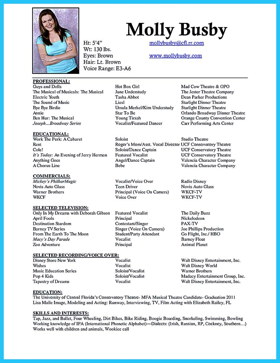 Dance Resume Examples | Pin On Resume Template Resume Resume Templates Sample Resume