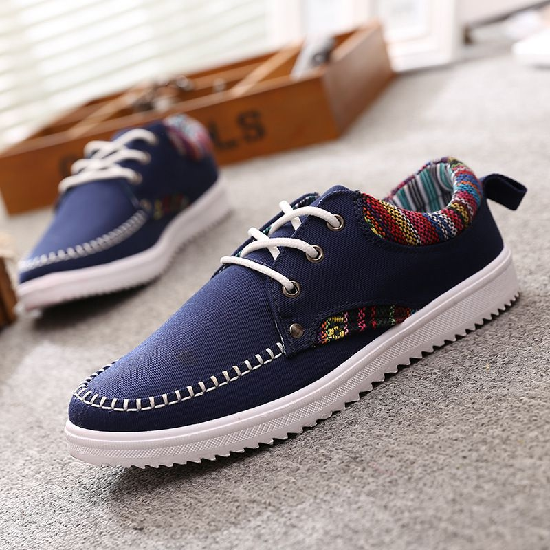 Find More Men's Casual Shoes Information about 2016 new comfortable men canvas shoes Blue hight quality low canvas flat shoes Wholesale price Daily leisure shoes 3 color,High Quality shoes sewing,China shoes for sale from china Suppliers, Cheap shoe specialized from Fashion Boutique Discount Stores on Aliexpress.com