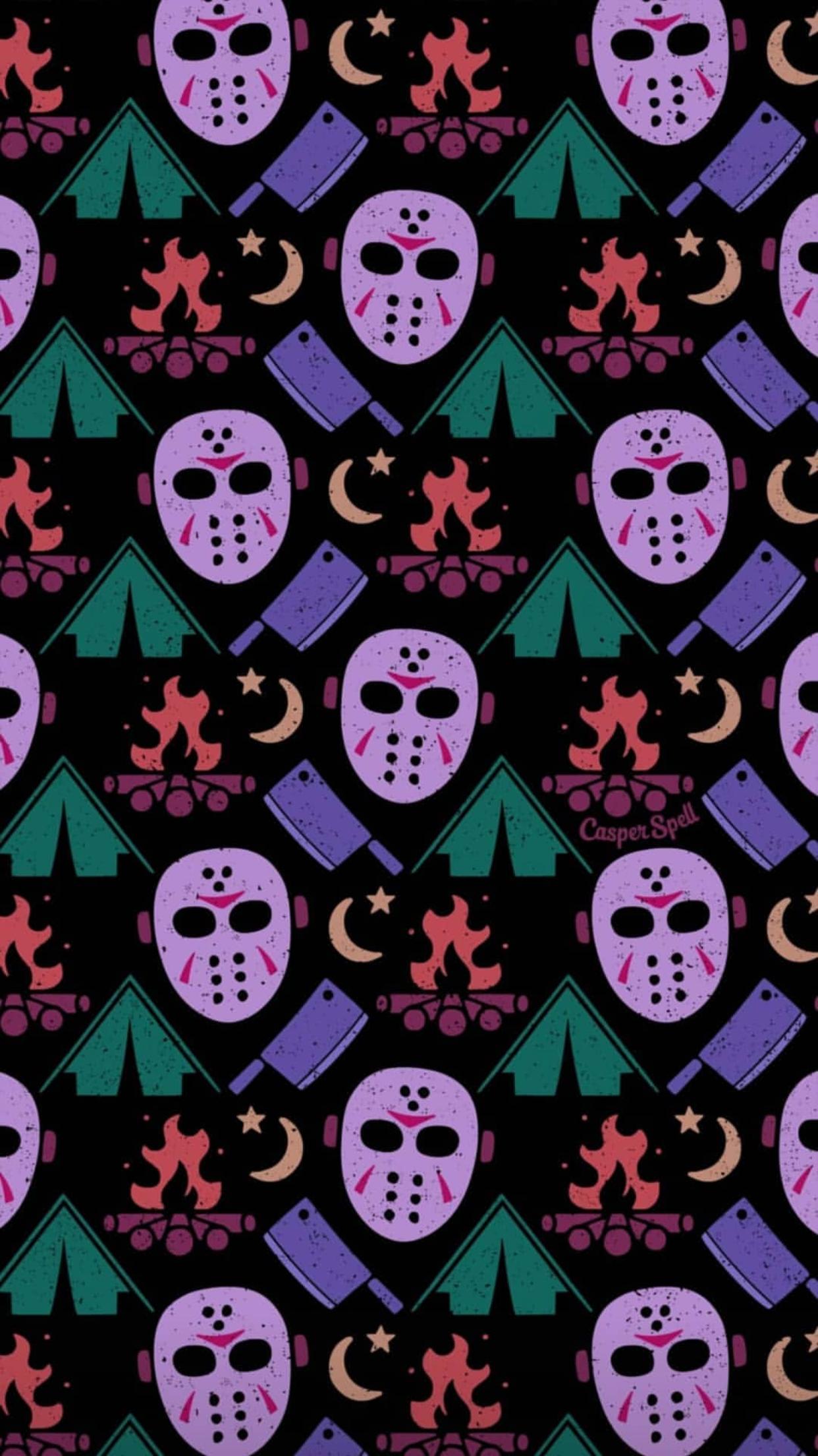 Friday The 13th Jason Voorhees Halloween Horror Movie Camp Crystal Lake Lock Screen Wallpaper Halloween Wallpaper Iphone Iphone Wallpaper Locked Wallpaper
