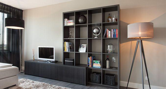 Boekenkast combinatie stijl kasten op maat wand kasten for Kast voor woonkamer