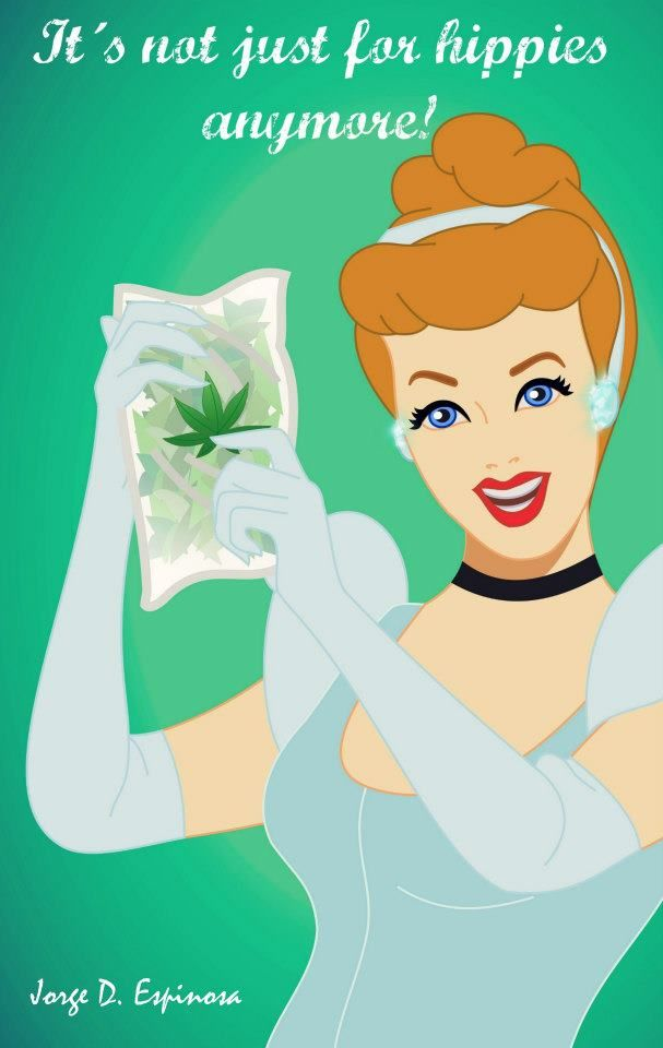 MARIHUANA, weed, cinderella, cannabis, Disney Princess ...Disney Princesses Smoking Weed Tumblr