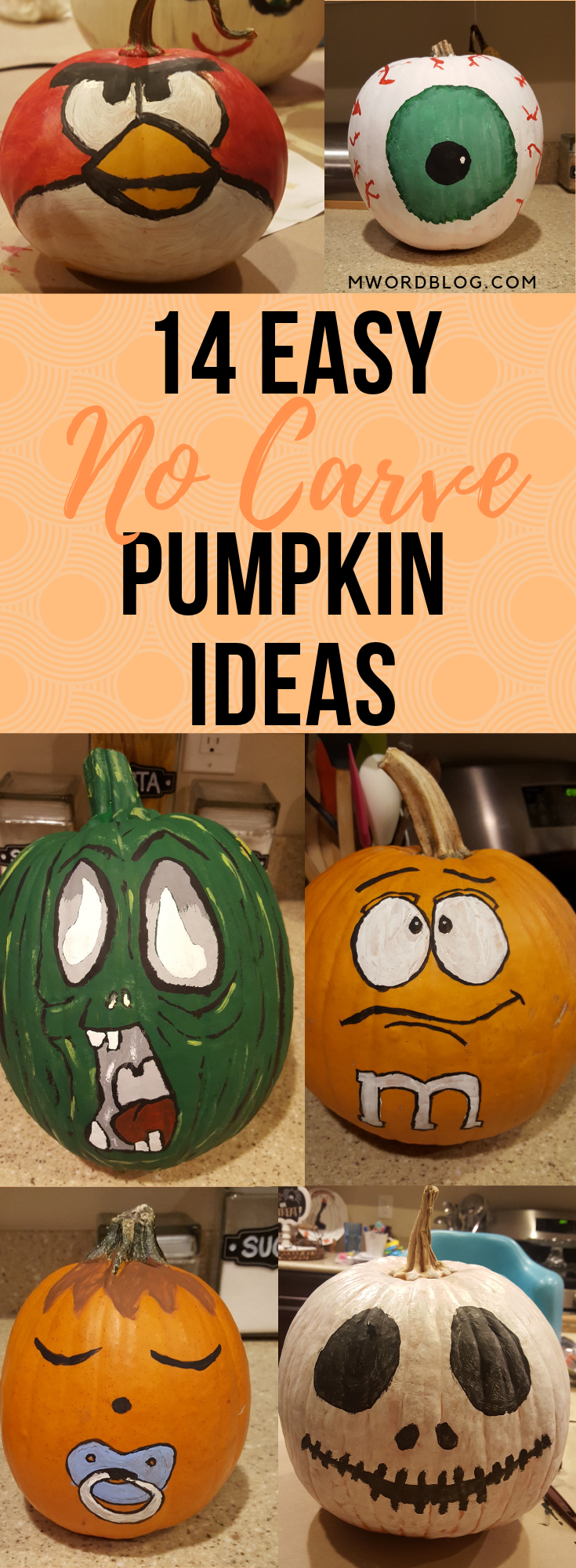 14 EASY NO-CARVE PUMPKIN PAINTING IDEAS (DIY) #pumpkinpaintingideascreative