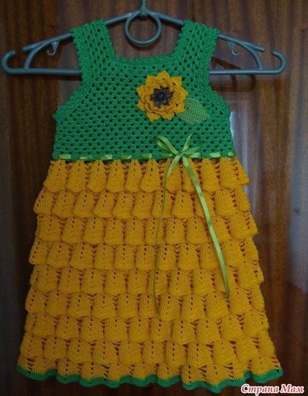 Robe fillette de 3 ans et ses grilles gratuites tricoti tricota pinterest robe fillette - Robe bebe en crochet avec grille ...