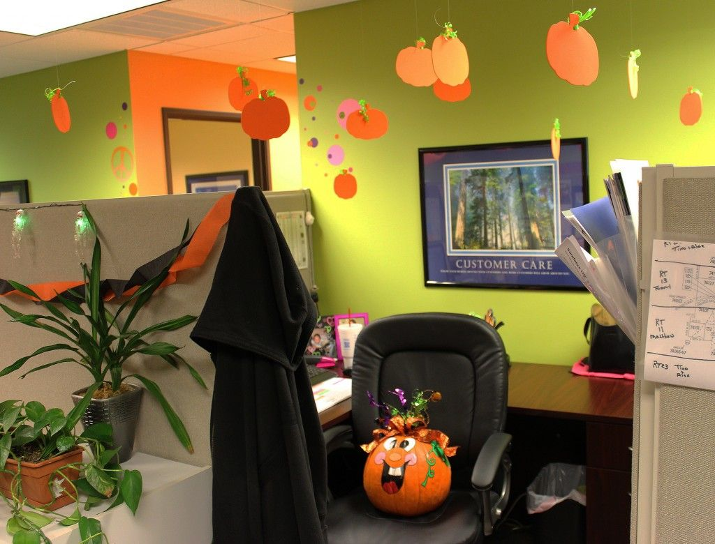 image result for hanging halloween decorations office