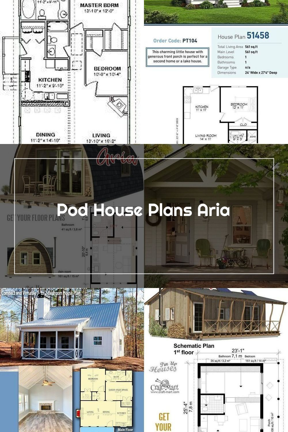 Small And Tiny Home Plans With Cost To Build Pod House Plans Aria In 2020 Pod House House Plans Small House Plans