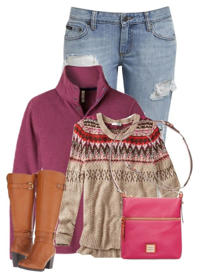"""""""Untitled #12597"""" by nanette-253 ❤ liked on Polyvore featuring Mountain Khakis, maurices, Naturalizer and Dooney & Bourke"""