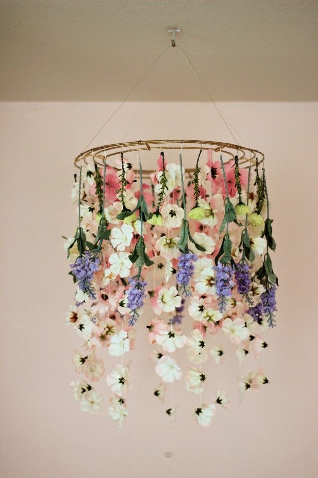 6eabfab3136 This DIY floral chandelier is perfect for your Mother s Day brunch ...