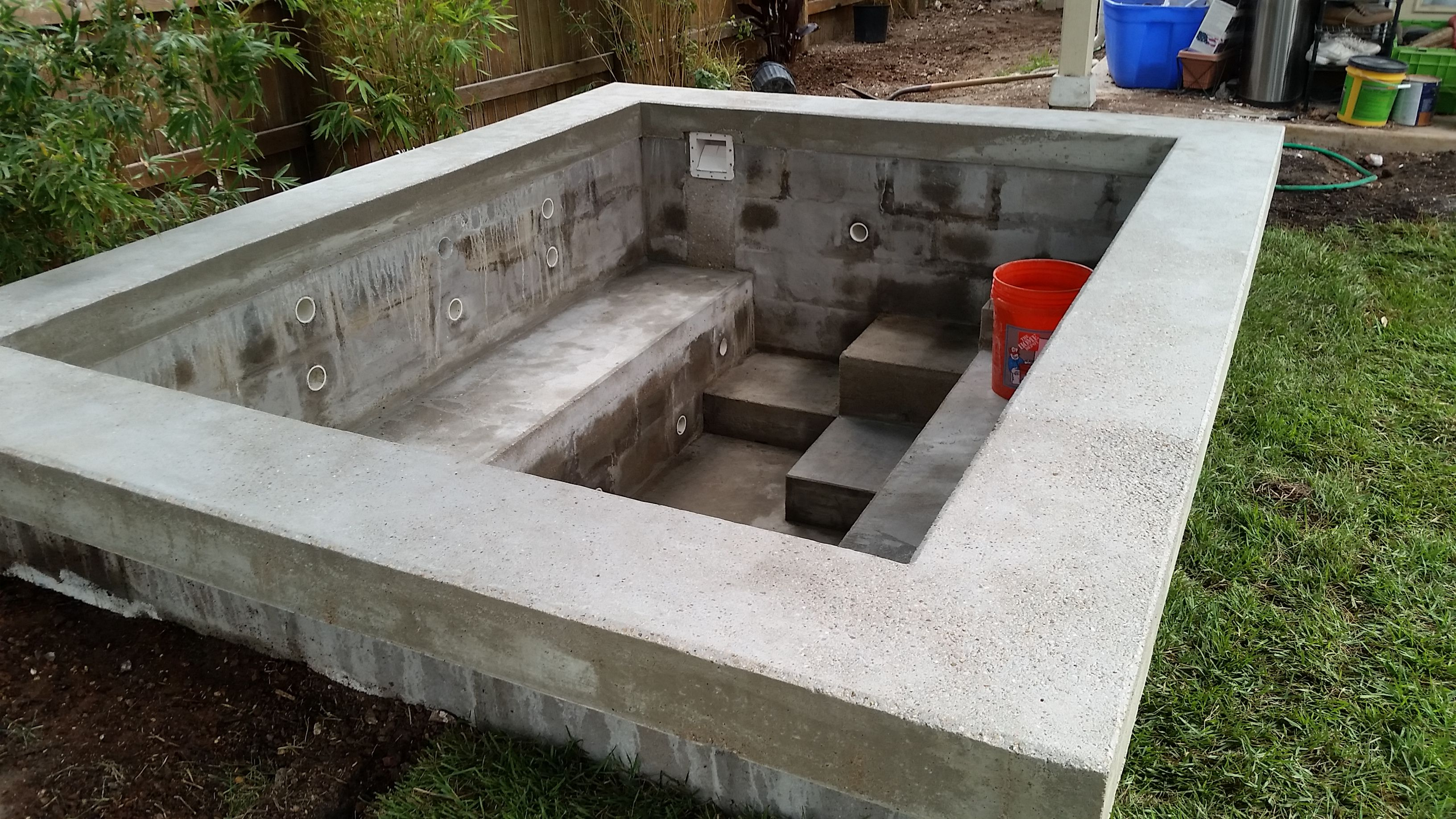 Bruce W Hot Tub Under Construction But Near Completion Learn How
