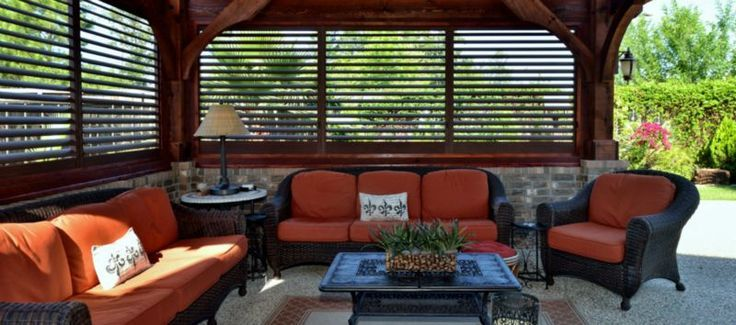 Plantation Shutters For Patio Wind Screen   Google Search