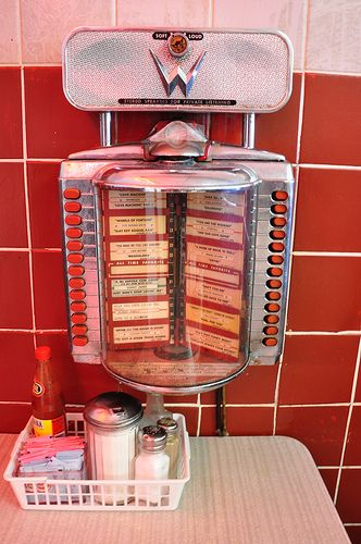 Elliston Place Soda Shop Nashville TN  Table Top Juke Box by Mod Betty / RetroRoadmap.com, via Flickr