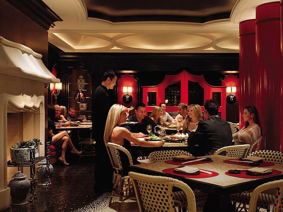 Elegant authentic southeast asian restaurant interior for Asian cuisine las vegas