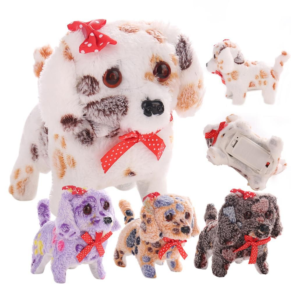 Electric Short Floss Dog Toys Electric Dog Walking Barking Toy
