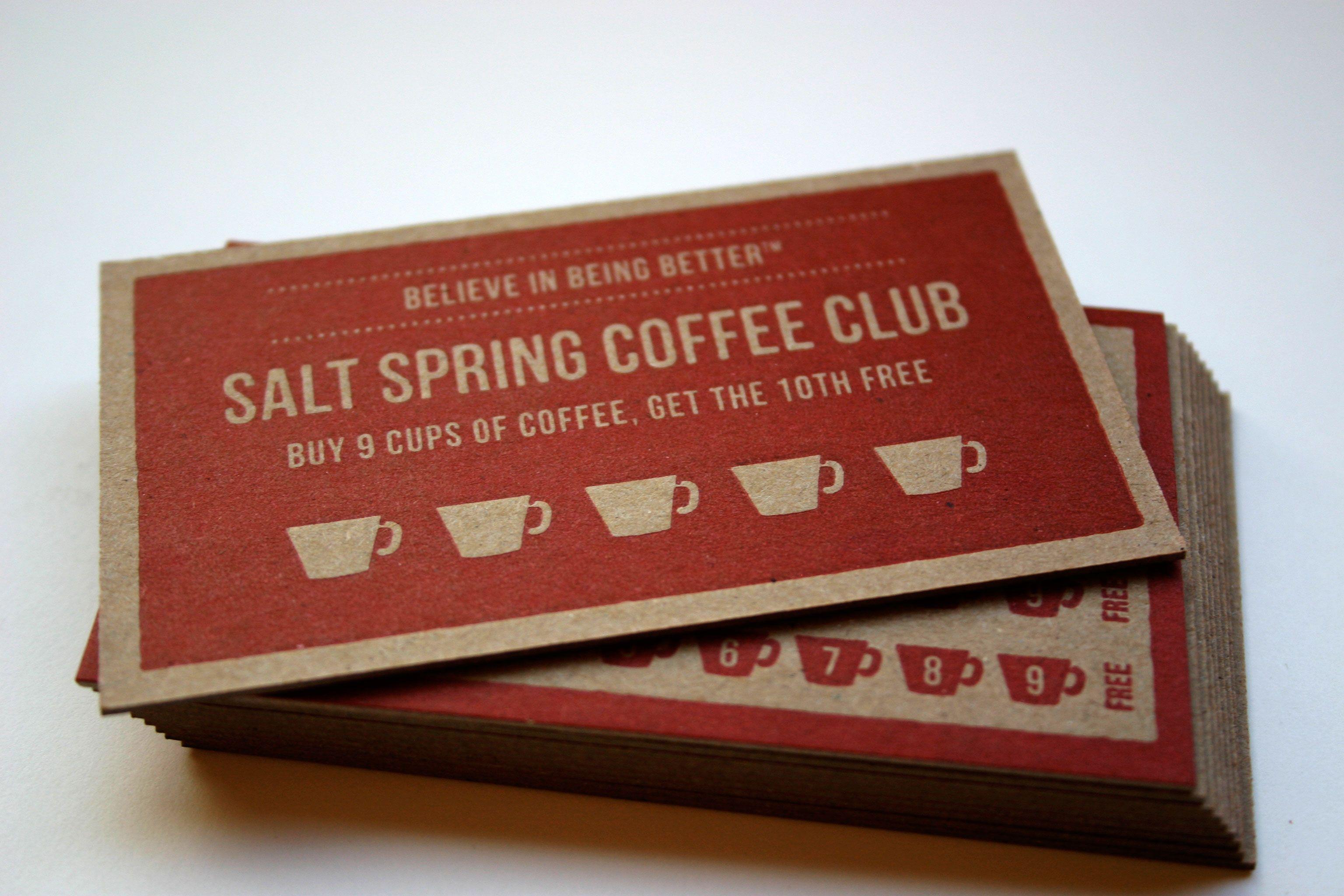 201209_Salstspring Loyalty Cards_2 | Restaurant | Pinterest ...