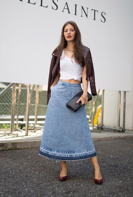 7439212d622 Как удлинить джинсовую юбку   Юбки и их переделки   ВТОРАЯ УЛИЦА ...