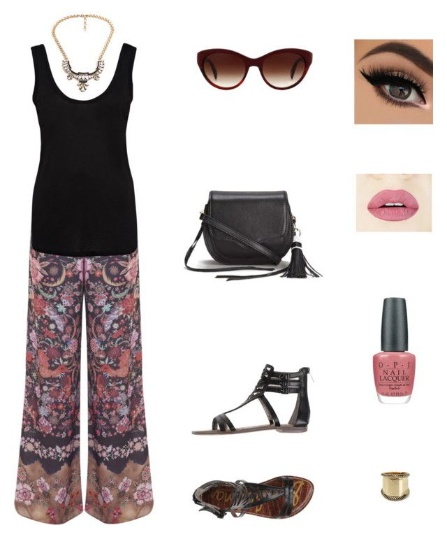 """""""sunny day out & about"""" by claracluck on Polyvore featuring Miss Selfridge, The Row, Sam Edelman, Rebecca Minkoff, OPI, Loli Bijoux, House of Harlow 1960, Paul Smith, women's clothing and women's fashion"""