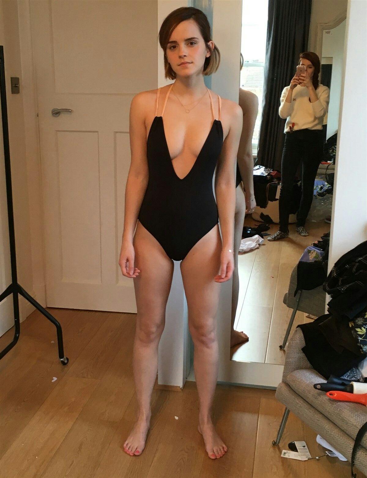 Emma Watson en sexy lencería.