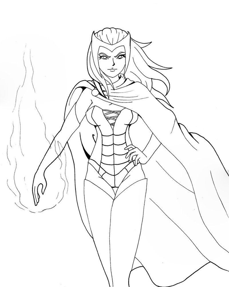 Avengers Coloring Pages - Best Coloring Pages For Kids  Witch