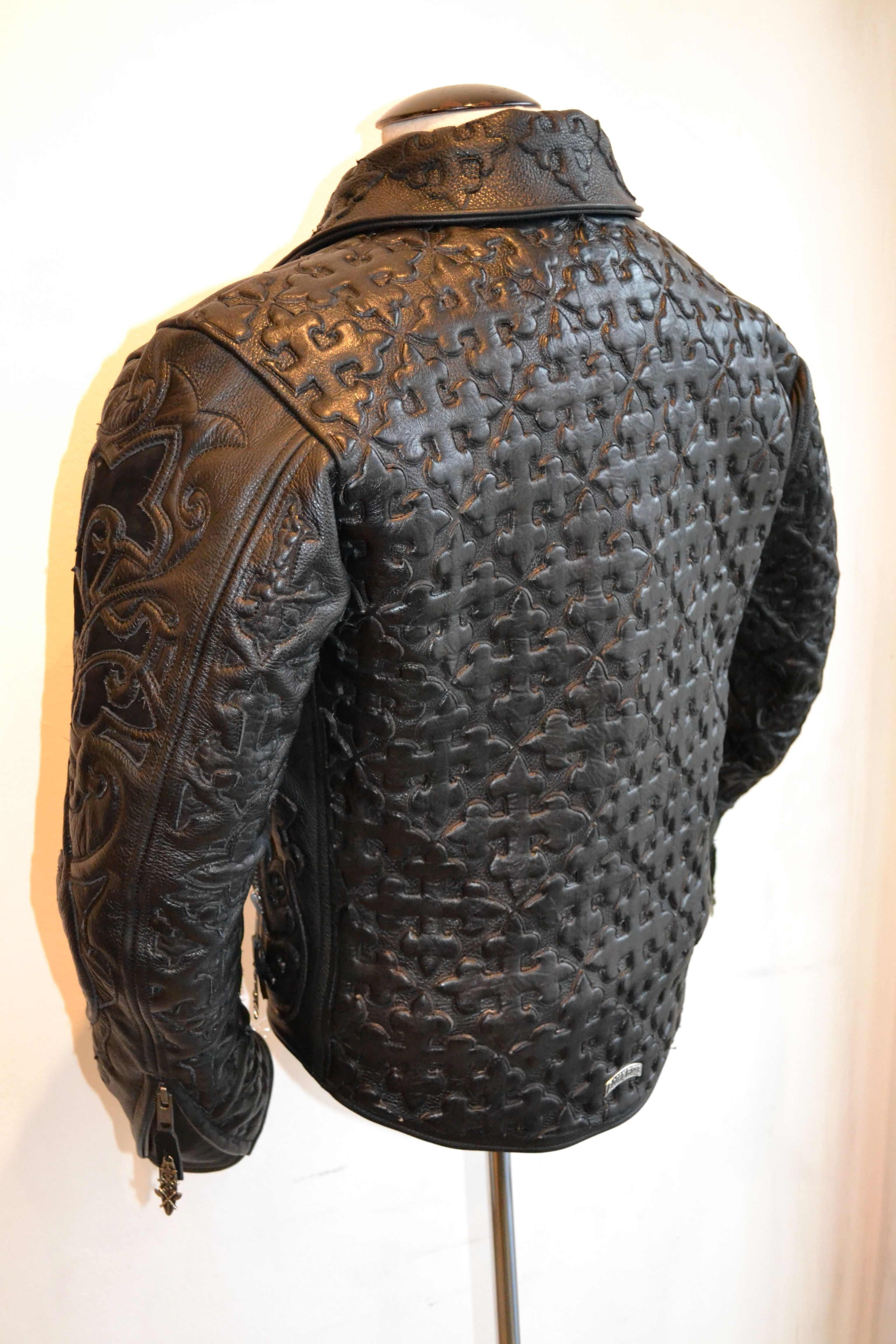 The Black, Leather Jacket by Logan Riese Brand leather