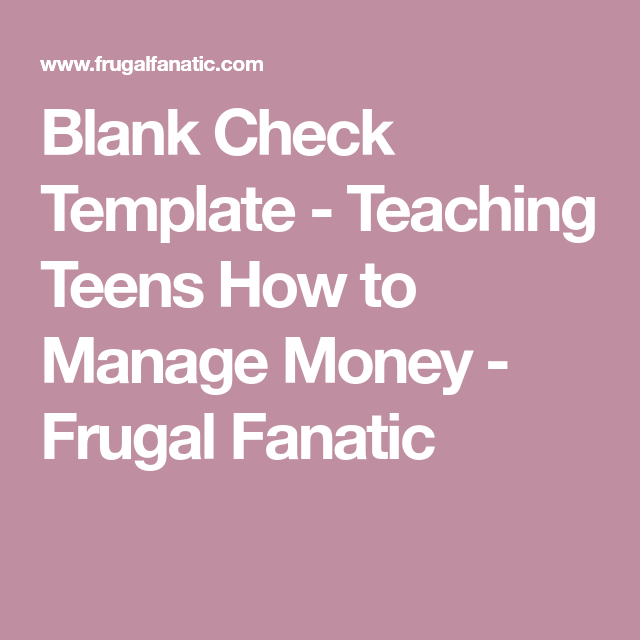 Teaching Teens How To Manage Money