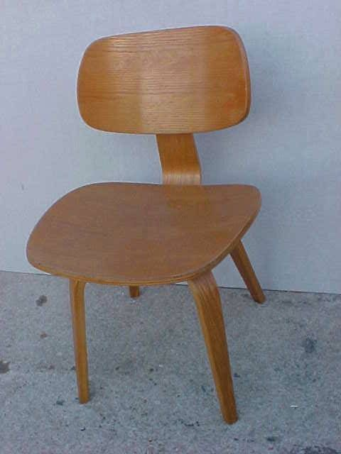 Vintage Mid Century bent wood Thonet chair Eames style # ...