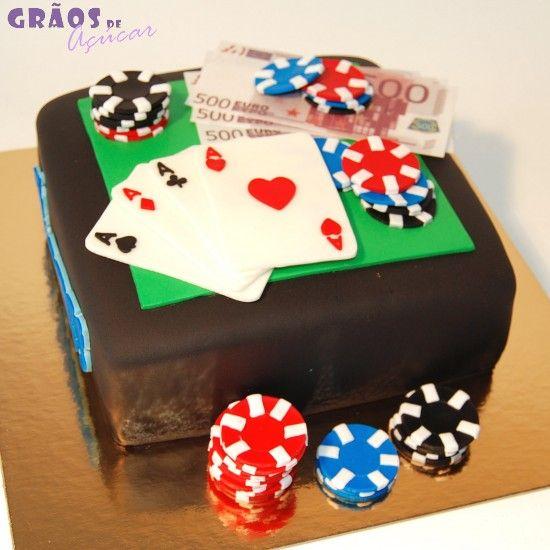 Poker   Recortado   bolo cartas   Grãos de Açúcar - Bolos decorados - Cake  Design b862faf77d
